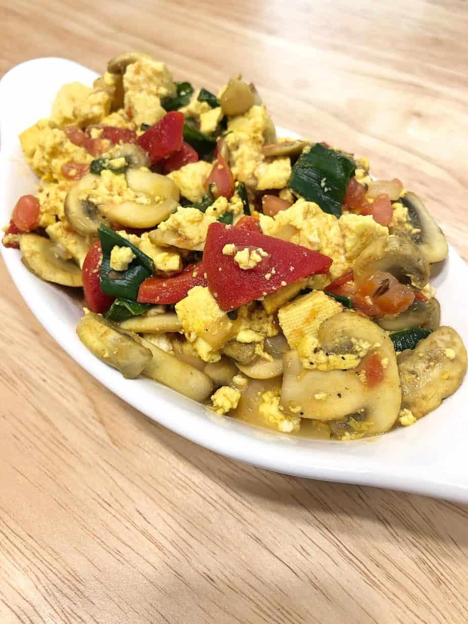 tofu egg scramble