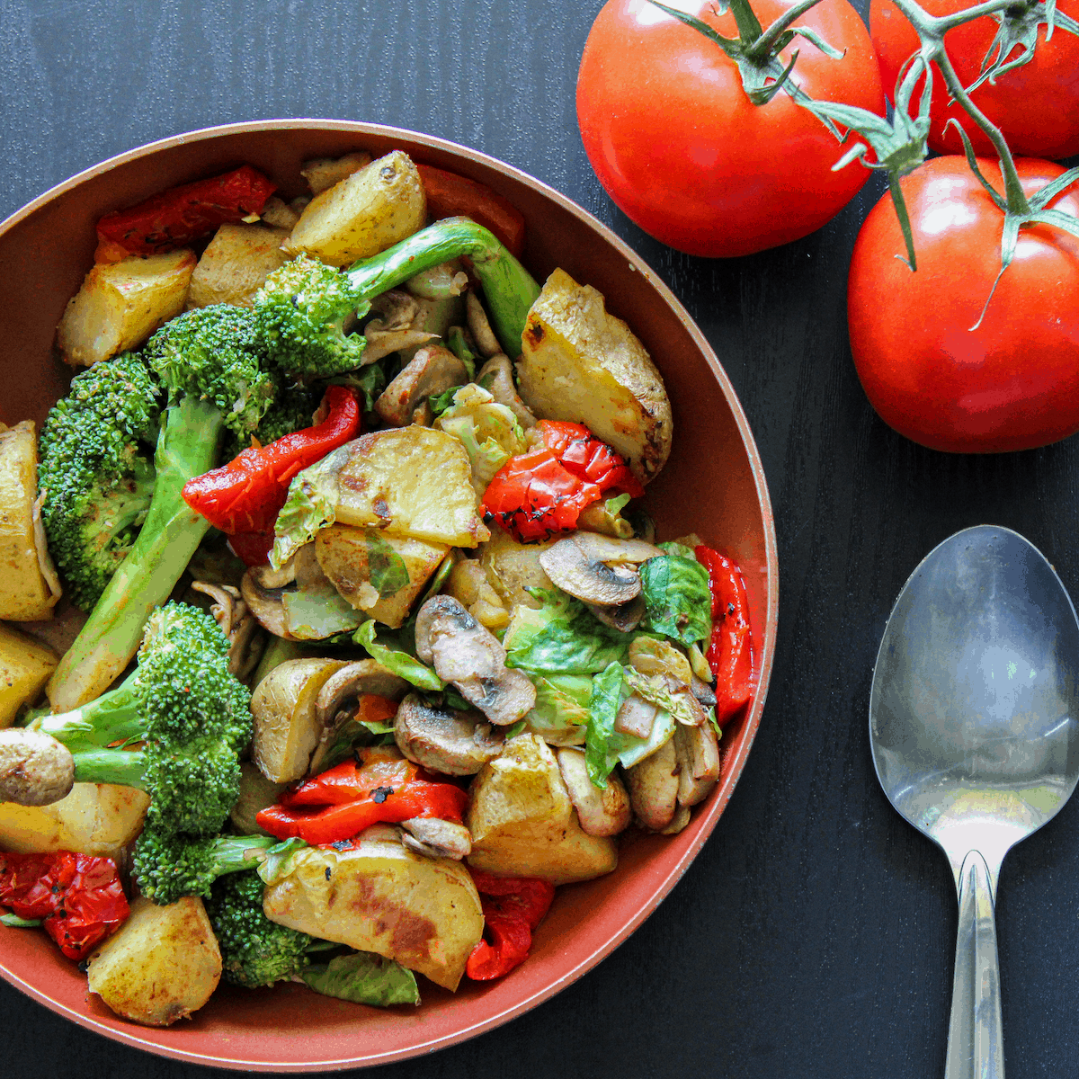Crispy Vegetable Potato Hash