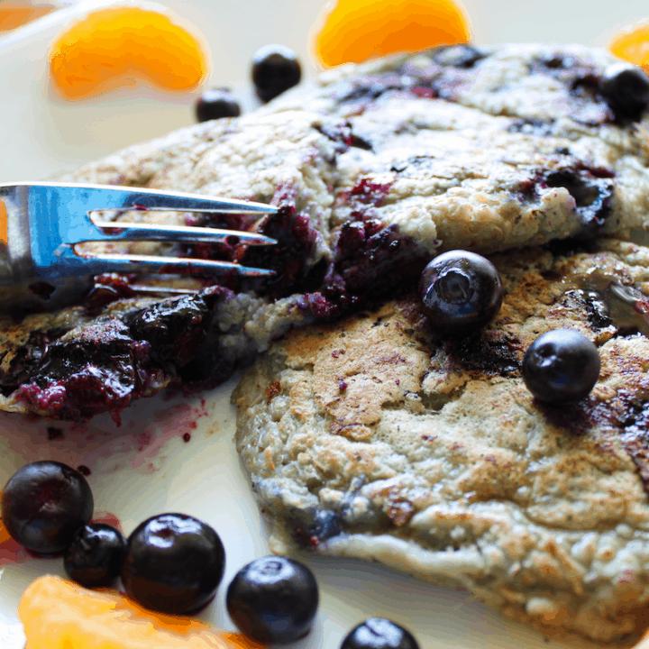 Fluffiest Vegan Blueberry Pancakes