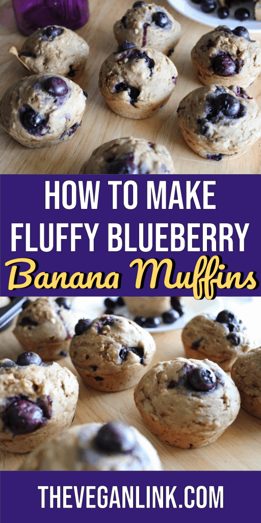 How to make fluffy blueberry banana muffins