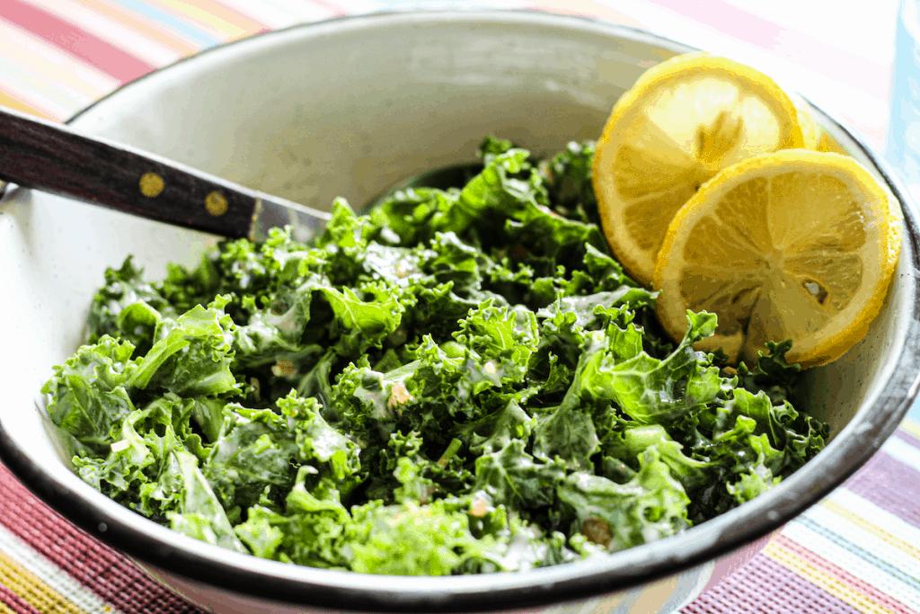 Creamy Kale Caesar Salad