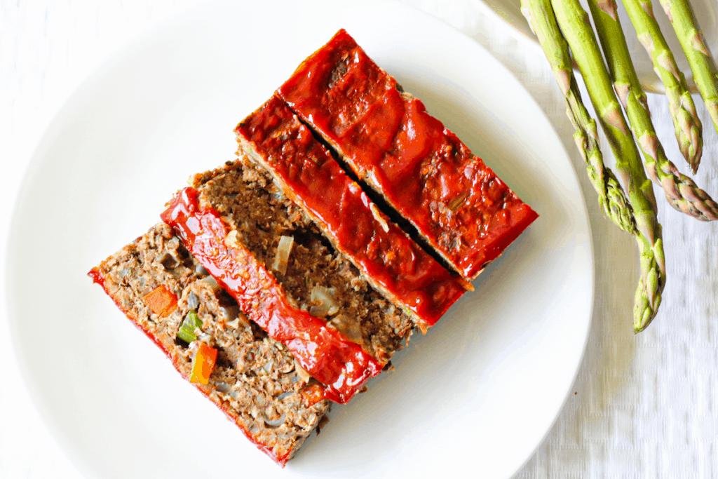 Classic Lentil Loaf with Ketchup Glaze