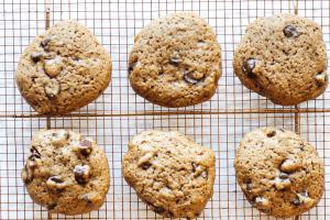 Vegan Chocolate Chip Cookies Cooling Rack