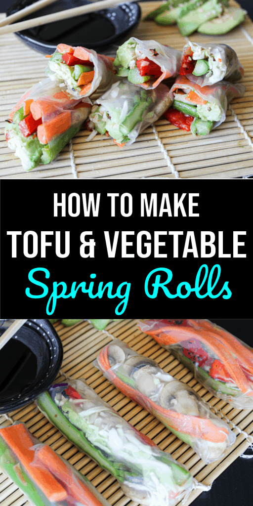 How to make tofu and vegetable spring rolls