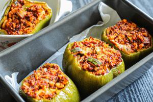 Vegan Italian Stuffed Peppers