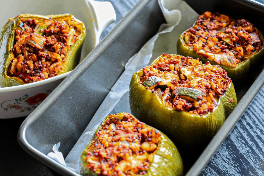 Italian Vegan Stuffed Peppers