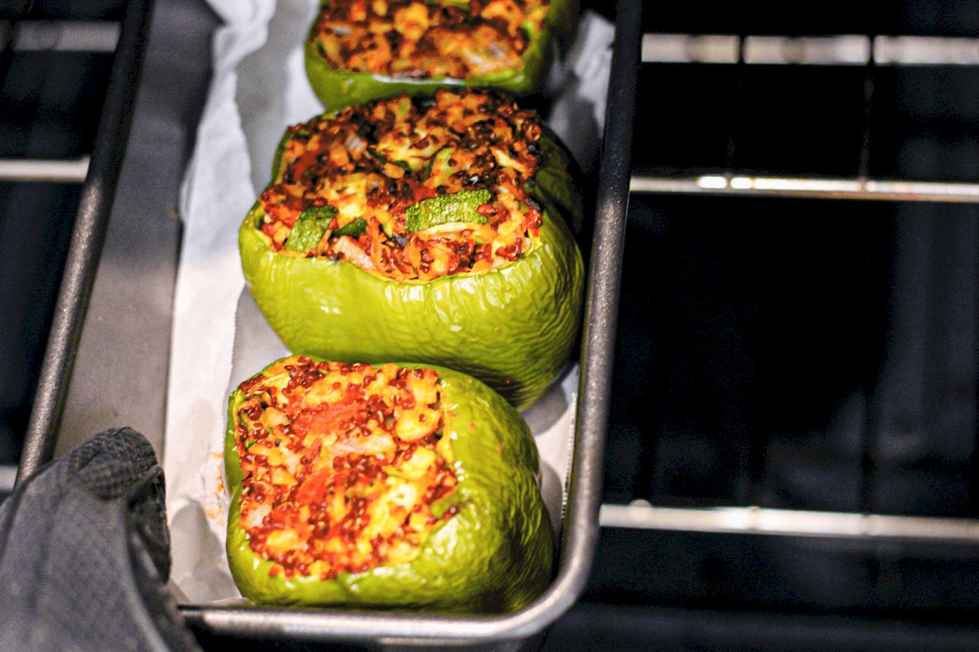 Baked Stuffed Vegan Peppers
