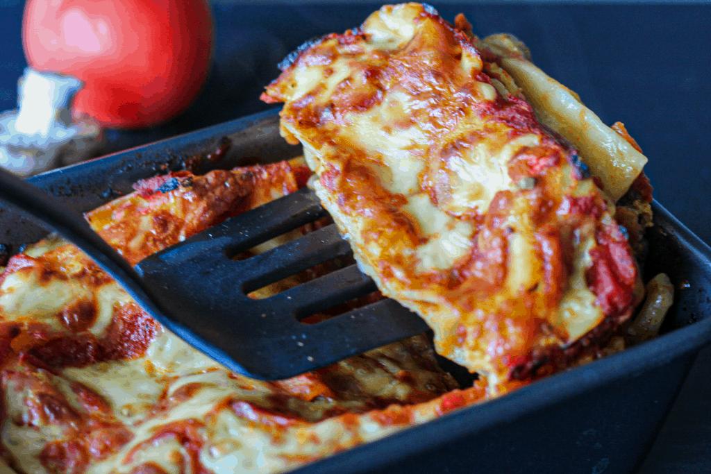 Serving Vegetable Vegan Lasagna