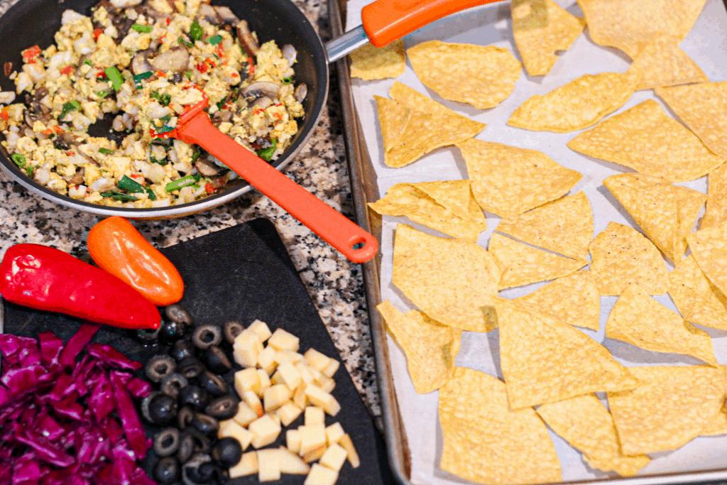 Breakfast Nachos Vegan Ingredients