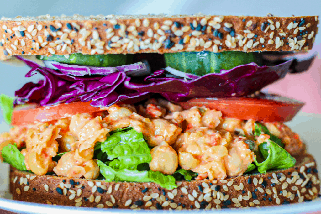 Roasted Red Pepper Chickpea Salad