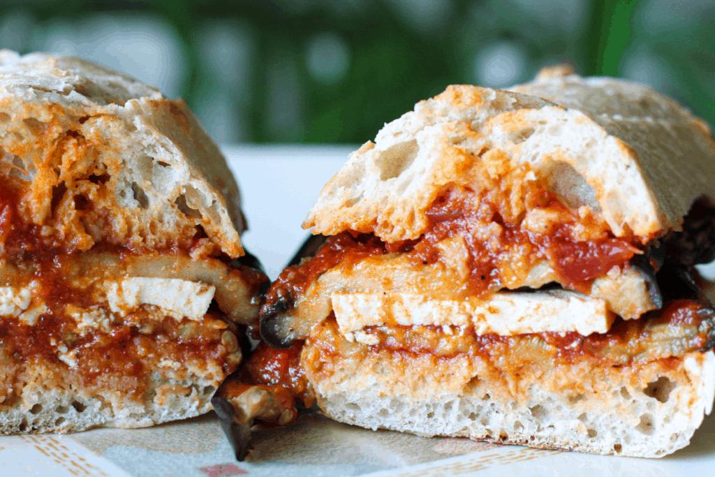 Vegan Eggplant Parm Sandwiches
