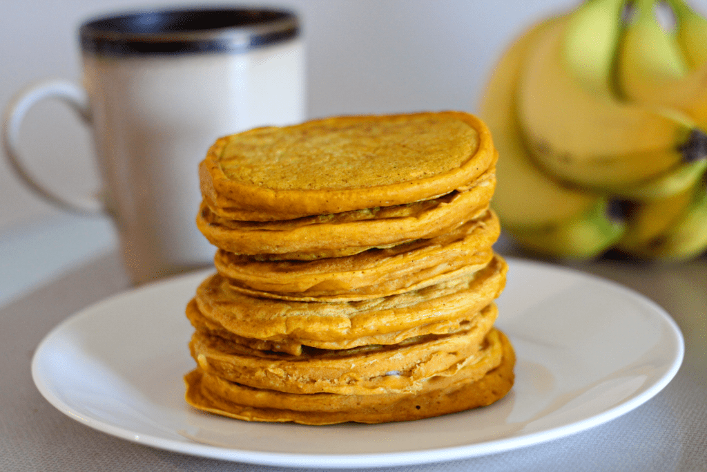 healthy pumpkin pancakes vegan recipe