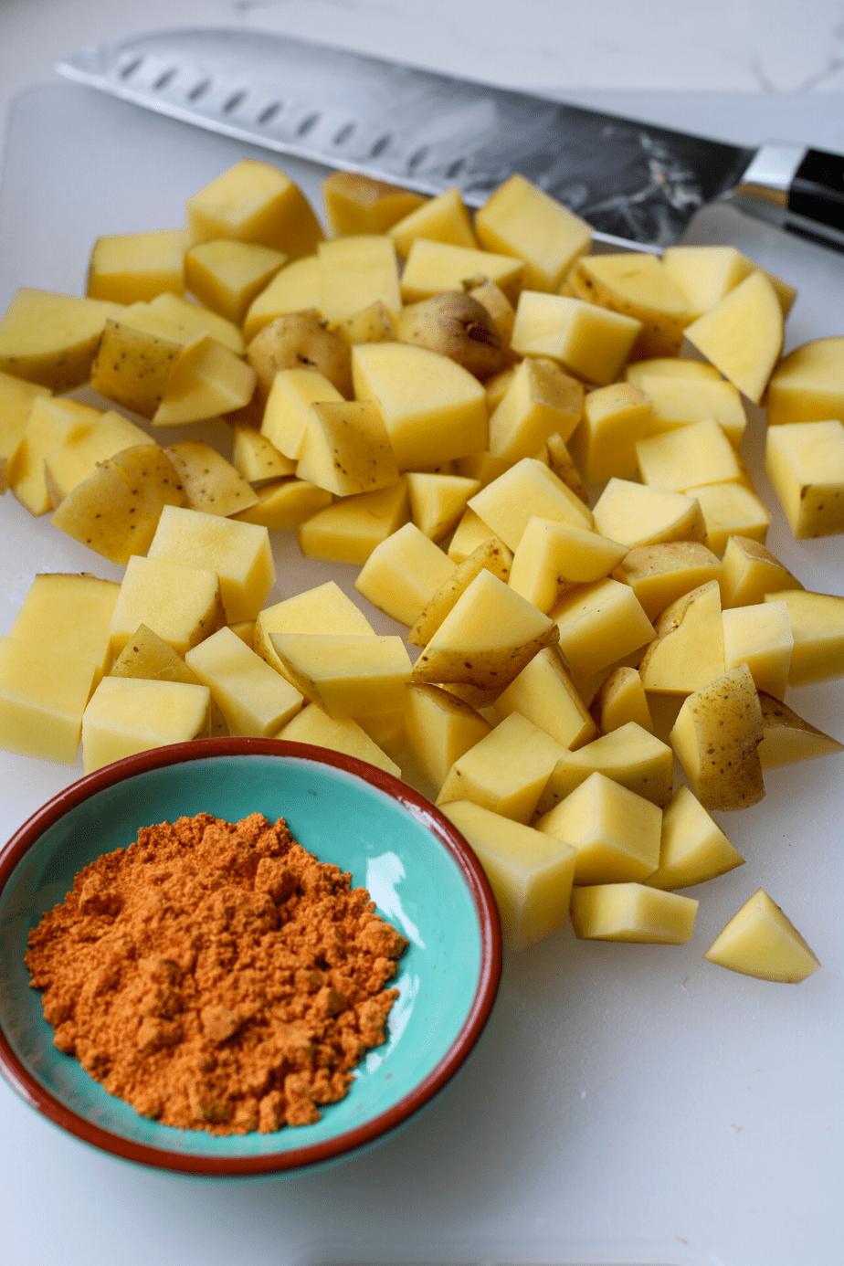 ingredients for potato tacos recipe