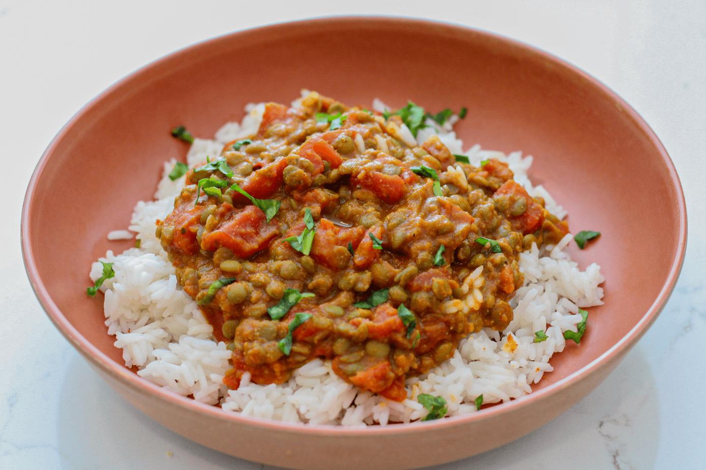 red curry lentils recipe vegan