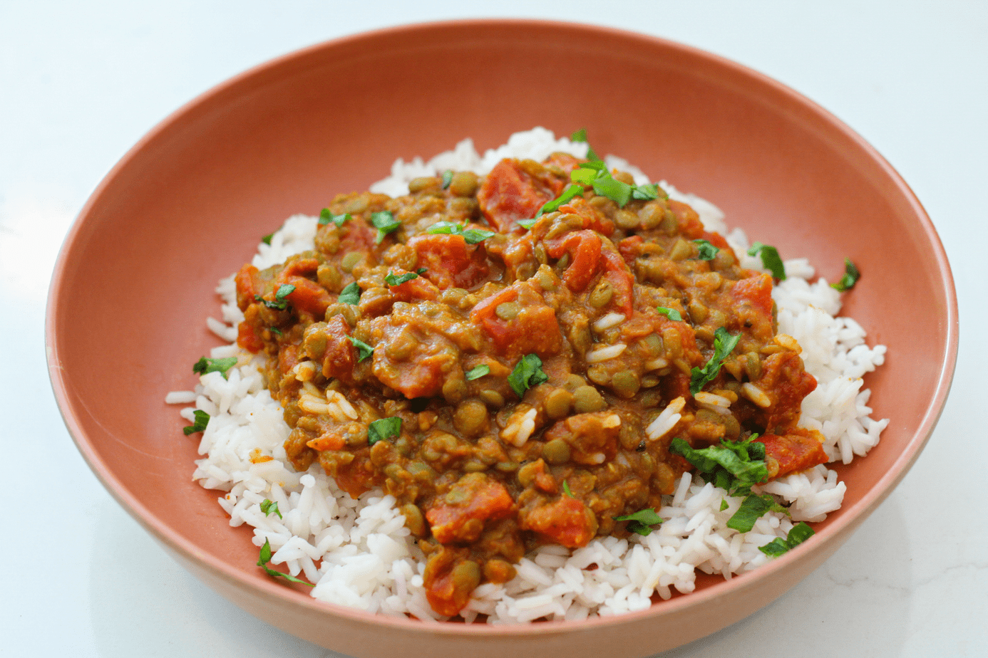 red curry lentils