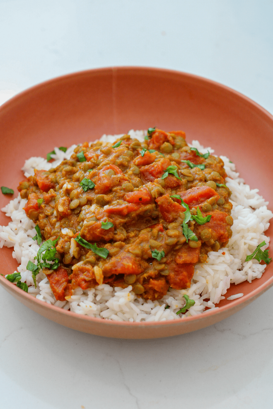 vegan curry lentils